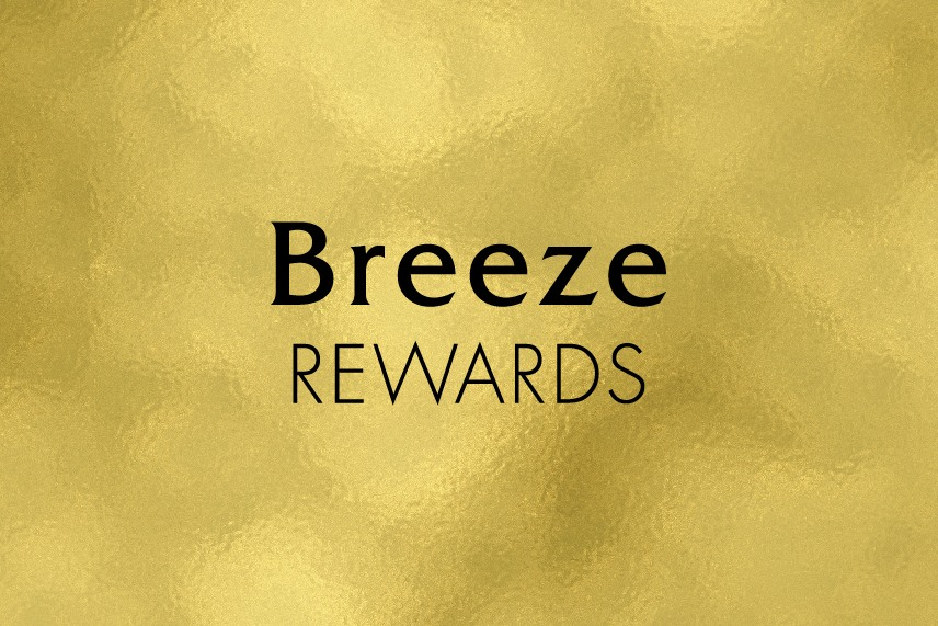 Breeze Rewards Points (Jan.2 Inventory out of stock-next redemption begins from Feb.3)